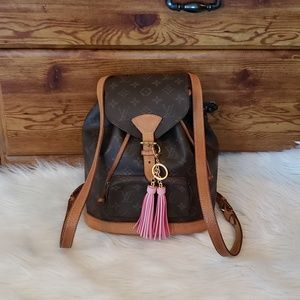 🎀🍀AUTH Louis Vuitton Backpack MONTSOURIS MM🍀🎀